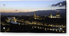 Florence At Night Acrylic Print by Alex Dudley