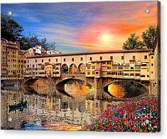 Florence Bridge Acrylic Print by Dominic Davison