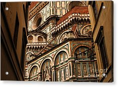 Florence Duomo Detail 1 Acrylic Print by Bob Christopher
