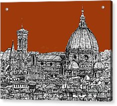 Florence Duomo On Sepia  Acrylic Print by Adendorff Design