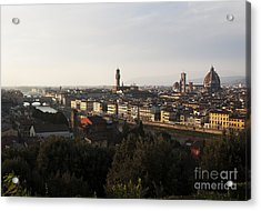 Florence Form The Piazza Michalengelo Acrylic Print by Belinda Greb