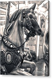 Florence Italy Carousel - 03 Acrylic Print by Gregory Dyer