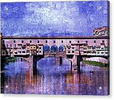 Acrylic Print featuring the photograph Florence Italy by Kathy Churchman