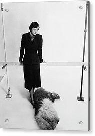 Florence Knoll And Her Dog Acrylic Print