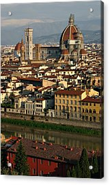 Acrylic Print featuring the photograph Florence Morning by Henry Kowalski