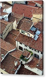 Acrylic Print featuring the photograph Florence Roof Tiles by Henry Kowalski