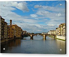 Acrylic Print featuring the photograph Florence Serenade by Walter Fahmy