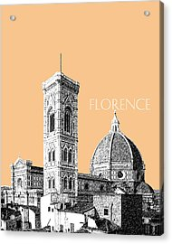 Florence Skyline Cathedral Of Santa Maria Del Fiore 2 - Wheat Acrylic Print by DB Artist