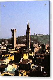 Florence Towers Acrylic Print by Spyder Webb