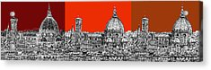Florence's Duomo In Oranges Acrylic Print by Adendorff Design
