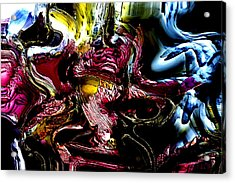 Acrylic Print featuring the digital art Flores' Darker More Uncomfortable Twin by Richard Thomas