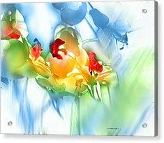 Flores En La Ventana Acrylic Print by Alfonso Garcia