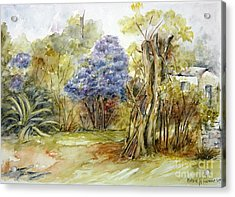 Flores Lilas Y Celestes II Acrylic Print
