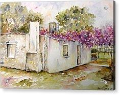Flores Lilas Y Celestes Acrylic Print