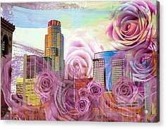 Las Flores De Los Angeles  Acrylic Print by John Fish