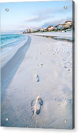 Florida Beach Scene Acrylic Print by Alex Grichenko
