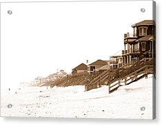 Acrylic Print featuring the photograph Florida Beach Sepia Print by Charles Beeler