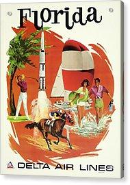 Florida Delta Airlines Acrylic Print
