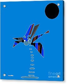 Acrylic Print featuring the digital art Florida Palm 2 by Ann Calvo