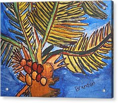 Acrylic Print featuring the painting Florida Palm by Artists With Autism Inc