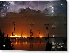 Florida Power And Lightning Acrylic Print