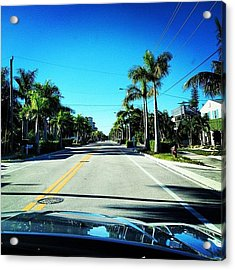 Florida Drive Acrylic Print