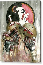 Florida State Seminoles Acrylic Print by Michael  Pattison