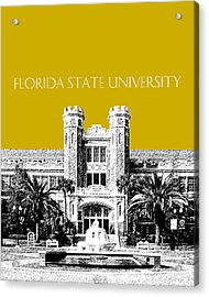 Florida State University - Gold Acrylic Print by DB Artist