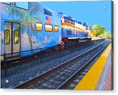Florida Train Acrylic Print