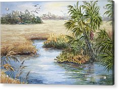 Acrylic Print featuring the painting Florida Wilderness IIi by Roxanne Tobaison