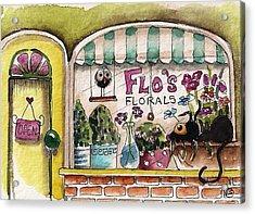 Flo's Flowers Acrylic Print by Lucia Stewart