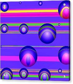 Flotation Devices - Grape Acrylic Print by Wendy J St Christopher