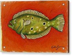 Flounder Acrylic Print