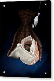 Flounder Strike Acrylic Print