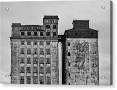 Flour Mills Acrylic Print by Andrew Menzies