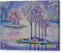 Flourish Acrylic Print by Nereida Rodriguez