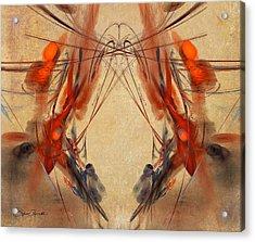 Flourishes Acrylic Print by Sylvia Thornton