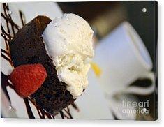 Flourless Chocolate Cake Acrylic Print
