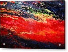 Acrylic Print featuring the painting Flow #1.abstract by Viktor Lazarev