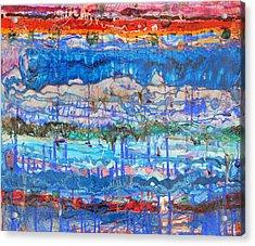 Flow Instability Acrylic Print by Regina Valluzzi