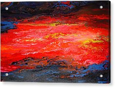 Acrylic Print featuring the painting Flow#2.abstract by Viktor Lazarev