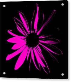Acrylic Print featuring the digital art Flower 6 by Maggy Marsh