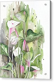 Flower Anthurium 04 Elena Yakubovich Acrylic Print
