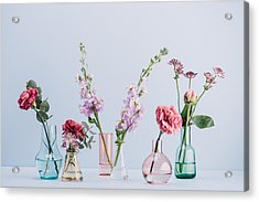 Flower Arrangement In Pastel Acrylic Print by Knape