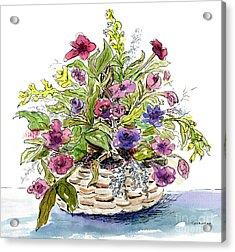 Flower Basket I Acrylic Print