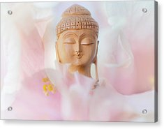 Flower Buddha 3 Acrylic Print by Jenny Rainbow