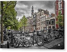 Amsterdam Flower Canal Acrylic Print by Melanie Viola