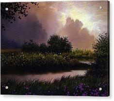 Flower Creek Acrylic Print by Robert Foster