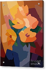 Flower Deco I Acrylic Print by Lutz Baar