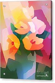 Flower Deco II Acrylic Print by Lutz Baar